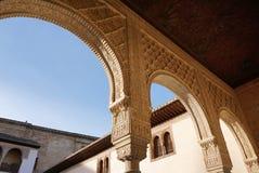 美好的建筑学在阿尔罕布拉宫,格拉纳达,西班牙 免版税库存图片