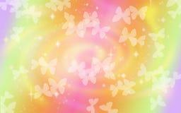 美好的蝴蝶colorfull背景 免版税图库摄影