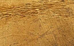 美好的年迈的金黄表面 库存图片