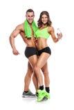 美好的年轻运动的性感的夫妇 库存照片