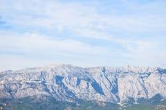 美好的Biokovo石头山风景 图库摄影