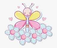 美好的buttefly动画片 皇族释放例证