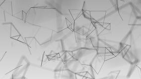 美好的cg引起了3d与几何线和小点的抽象背景 免版税图库摄影