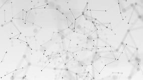 美好的cg引起了3d与几何线和小点的抽象背景 免版税库存图片