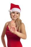 美好的gir喜悦圣诞老人 图库摄影