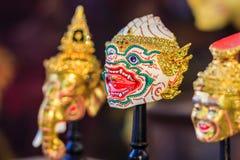 美好的Hanuman头, Khon面具,艺术文化泰国跳舞 免版税库存照片