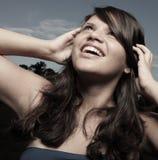 美好的headshot微笑的青少年的年轻人 免版税库存照片