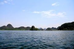 美好的lakeview在puzhehei县,云南,瓷 免版税图库摄影