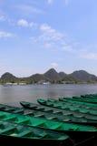 美好的lakeview在puzhehei县,云南,瓷 图库摄影
