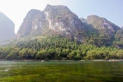 美好的lijiang河风景 免版税库存图片