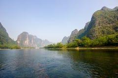 美好的lijiang河风景 库存照片