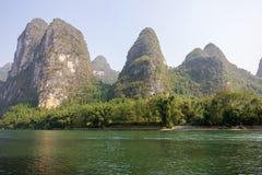 美好的lijiang河风景 免版税库存照片