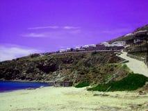 美好的Myconos海岛Grecce背景 免版税图库摄影