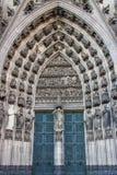 美好的ornage门方式在大教堂科隆里 免版税图库摄影
