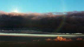 美好的skyscape 美好的后面云彩星期日日落 股票录像