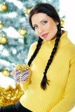 美好的xmas黄色 免版税库存照片