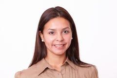20-24年美好西班牙女孩微笑 免版税库存照片