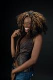 美好非裔美国人妇女笑 库存照片