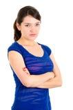 美好年轻深色拉丁女孩摆在 图库摄影