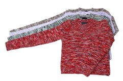 美妙四件的毛线衣 免版税图库摄影