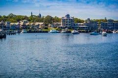 美妙地私有的风船在鳕鱼角,马萨诸塞 免版税库存图片