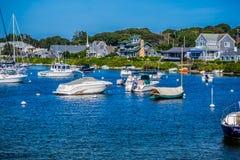 美妙地私有的风船在鳕鱼角,马萨诸塞 免版税库存照片