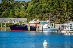 美妙地私有的风船在鳕鱼角,马萨诸塞 库存图片