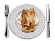 美妙地被安排的食物牌照 免版税图库摄影