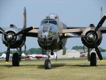 美妙地被恢复的北美B-25米歇尔轰炸机 免版税图库摄影