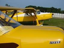 美妙地被恢复的古色古香的20世纪30年代费尔柴尔德F24私有飞机 免版税库存图片