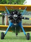 美妙地被恢复的波音PT-17 Stearman 免版税图库摄影
