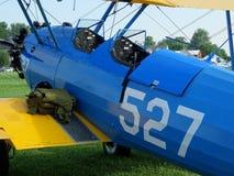 美妙地被恢复的波音PT-17 Stearman 免版税库存照片
