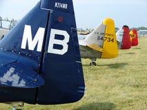 美妙地被恢复的经典北美AT-6德克萨斯人 免版税库存照片
