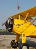 美妙地被恢复的经典波音PT-17 Stearman 免版税库存图片