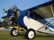 美妙地被恢复的1928年费尔柴尔德71C葡萄酒班机 免版税库存图片