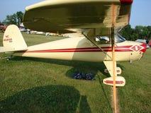 美妙地被恢复的Luscombe 8A航空器 免版税库存照片