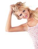 美妙白肤金发的妇女 免版税库存照片