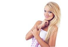 美妙白肤金发的妇女 库存图片