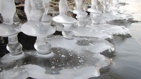 美妙的冰专栏 免版税库存照片