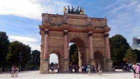 美妙的凯旋门du Carrousel 免版税库存照片