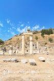 美妙的古老废墟在以弗所,土耳其 免版税图库摄影