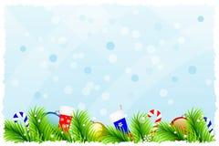美妙的圣诞节背景 图库摄影