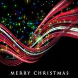 美妙的圣诞节通知设计 免版税图库摄影