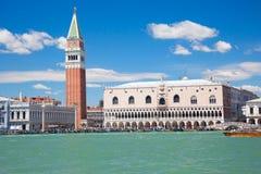 美妙的圣马克广场在威尼斯意大利 库存图片