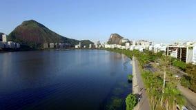 美妙的城市 美妙的地方在世界上 伊帕内马盐水湖和邻里在里约热内卢,巴西 影视素材