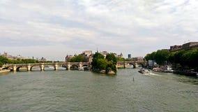 美妙的塞纳河 库存图片