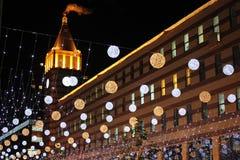 美妙的夜在城市 免版税库存图片