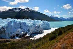 美妙的天在佩里托莫雷诺` s冰川 库存图片