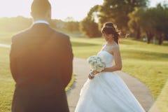美妙的婚礼之日 库存照片