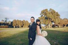 美妙的婚礼之日 库存图片